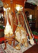 Uyghur musical instruments, Kashgar.jpg