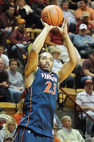 Mike Scott (basketball) - Scott with Virginia in February 2012