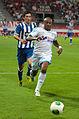 Valais Cup 2013 - OM-FC Porto 13-07-2013 - André Castro et André Ayew.jpg