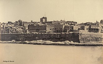 Auberge de Bavière - Auberge de Baverie as seen from Fort Tigné c. 1864