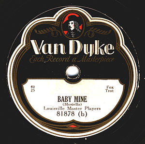Mike Mosiello - The label of a Van Dyke issue of Mosiello's composition Baby Mine.