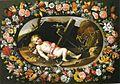 Van der Hamen y León - Girlande mit schlafenden Jususkind.jpg
