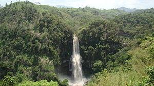 Geography of Mizoram - Vantawng Falls