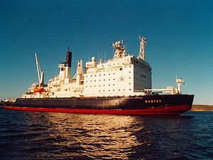 Nuclear-powered icebreaker - ''Vaygach'' in 1999