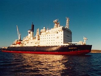 Nuclear-powered icebreaker - Vaygach in 1999