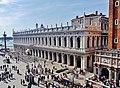 Venezia Basilica di San Marco Terrasse Blick auf die Biblioteca Nazionale Marciana 2.jpg