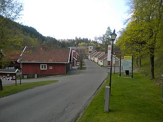 Bærums Verk - Verksgata on the site of the old foundry