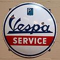Vespa Enamel advert sign at the den hartog ford museum pic-103.JPG