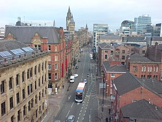 Princess Street, Manchester street in Manchester, United Kingdom