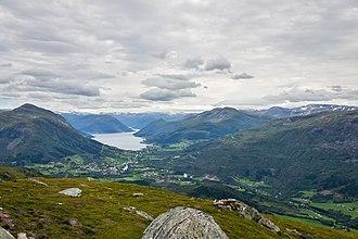 Jølster - View from Eikåsnipa towards Jølstravatnet.