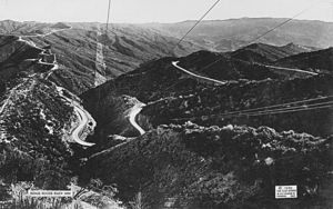 Ridge Route - View of the route, 1920