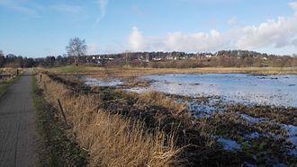 Birkerød - View on the Bistrup neighbourhood from Vaserne