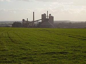 A6121 road - Hanson Cement at Ketton