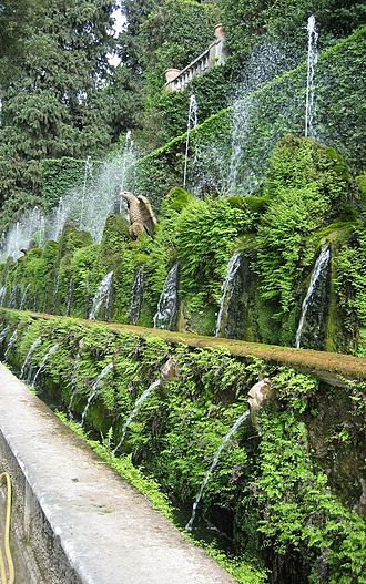 Landscape design - Villa d'Este fountains