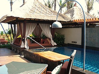 Balinese architecture - A Balinese-style resort villa in Bali