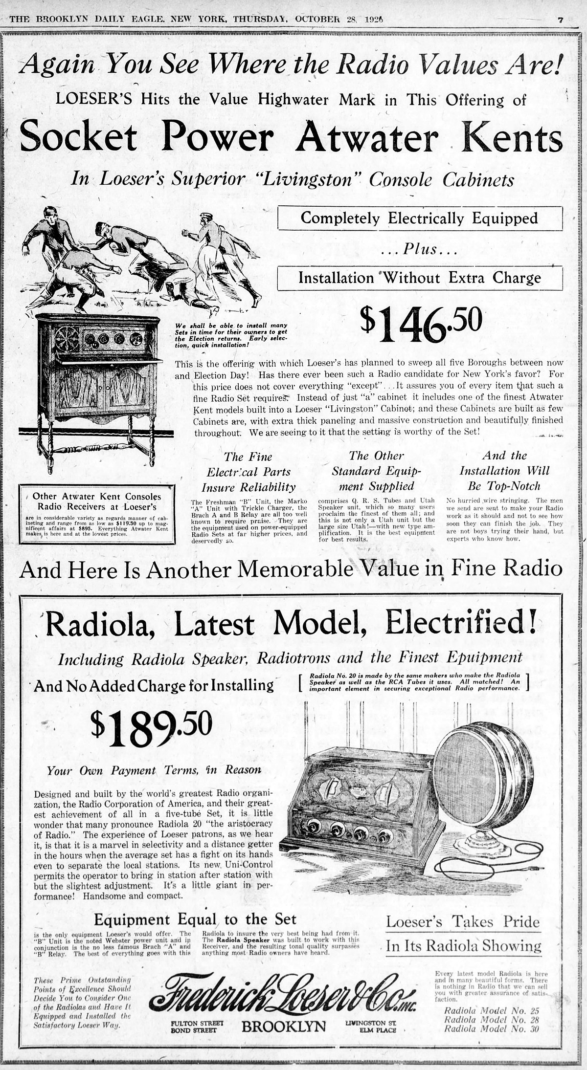 File Vintage Advertising For Atwater Kent And Rca Radiola Radios