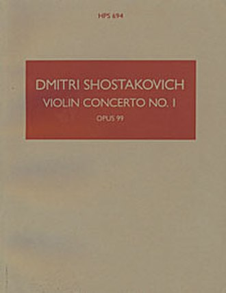 Boosey & Hawkes - The distinctive brown cover of a Hawkes Pocket Score: Dmitri Shostakovich's Violin Concerto No. 1 (Op. 77; sometimes numbered Op. 99).