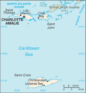 Sandy Point National Wildlife Refuge - Image: Virgin Islands CIA WFB Map