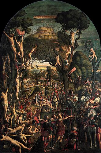 June 1 (Eastern Orthodox liturgics) - Image: Vittore carpaccio, Crucifixion and Apotheosis of the Ten Thousand Martyrs