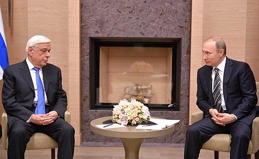 Vladimir Putin and Prokopis Pavlopoulos (2016-01-15) 01