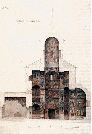 Схема росписи Успенской церкви