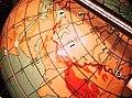 Voskhod spacecraft IMP 'Globus' navigation instrument. Globe with Earth communication station indicators.jpg