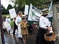 Votes for Women march, Redman Park gates, Town, Beamish Museum, 19 July 2010.jpg