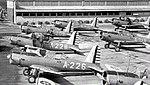 Vultee BT-13 Valiants at Chino (Ontario) Army Airfield.jpg