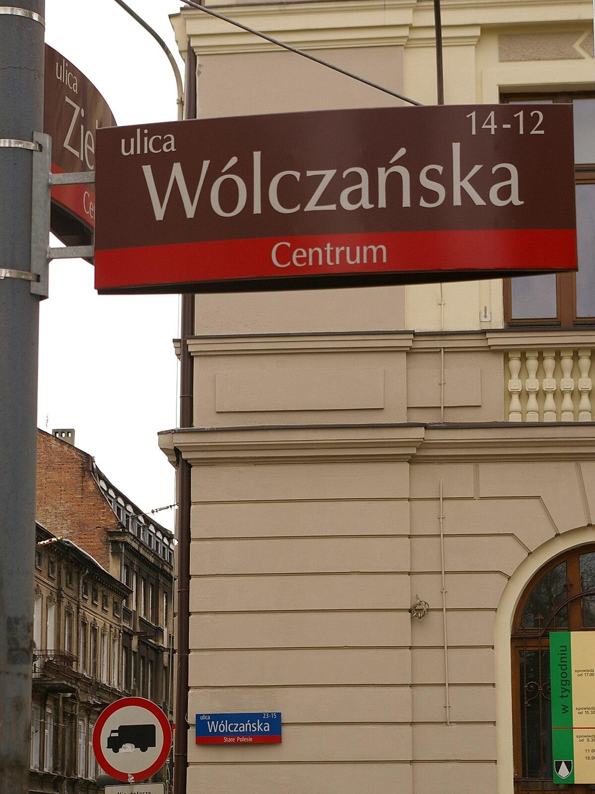 Ulica Wólczańska W łodzi Wikipedia Wolna Encyklopedia