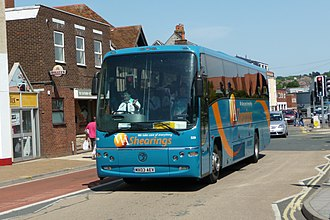 Shearings - Plaxton Panther bodied Volvo B12M on the Isle of Wight in May 2009 in WA Shearings livery