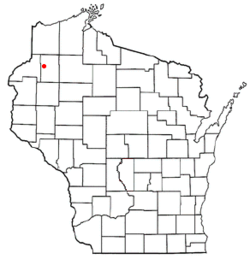 Location of Casey, Wisconsin