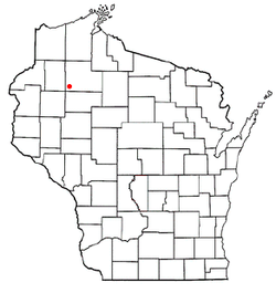 Location of Edgewater, Wisconsin