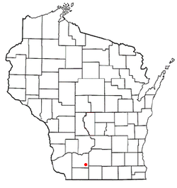 Location of Hollandale, Wisconsin