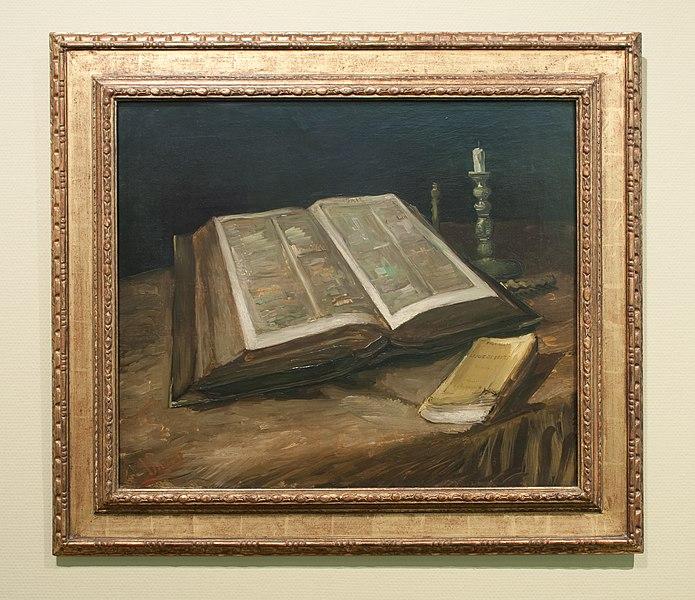 File:WLANL - Pachango - Stilleven met bijbel, Vincent van Gogh (1885).jpg