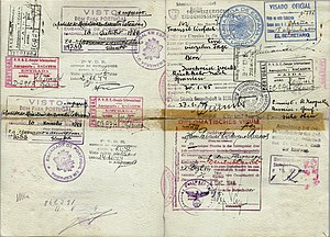 Passport - WW2 Spanish official passport issued in late 1944 and used during the last 6 months of the war by an official being sent to Berlin.