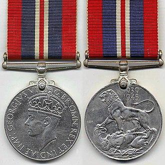 War Medal 1939–1945 - Image: WW2 War Medal