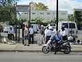WWOZ 30th Parade Elysian Fields Lineup motorcycle.JPG