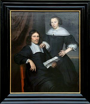 Wallerant Vaillant - A couple painted by Wallerant Vaillant. (Gemäldegalerie, Berlin)