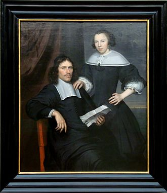 Wallerant Vaillant - A couple painted by Wallerant Vaillant. (Gemäldegalerie, Berlin)