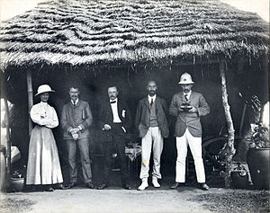 Walter Egerton - Sir Walter Egerton (far right) with his wife and other westerners in Lagos, c. 1910