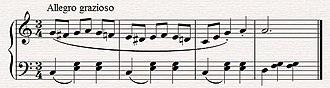 Waltz (music) - A section from Johann Strauss' Waltz from Die Fledermaus