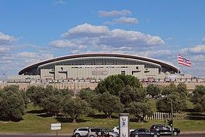 2018–19 UEFA Champions League - Image: Wanda Metropolitano 2017 09