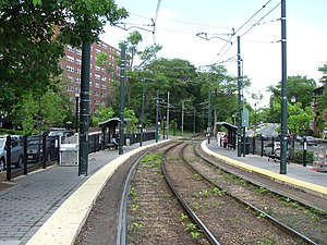 Washington Square MBTA station, Brookline MA.jpg