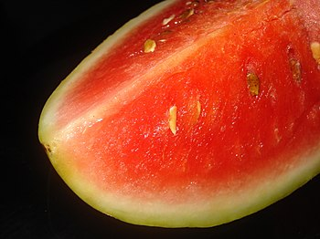 English: Water melon slice