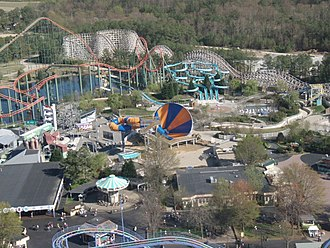 Soak City (Kings Dominion) - Image: Water Works in 2007, showing the new Tornado