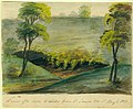 """Watercolor Painting, """"A View of a Cave, 2 Miles from St. Louis, Missouri Territory"""".jpg"""