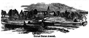 Watertown Arsenal - Watertown Arsenal c. 1847.