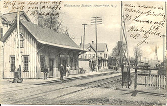 Watsessing Avenue station - The former Watsessing Avenue station, prior to the grade separation in 1912