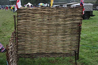 Wattle (construction) - Wattle hurdle or panel.