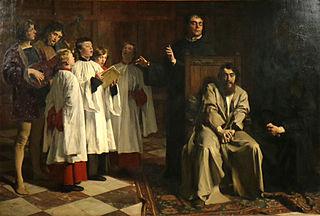 the painter Hugo van der Goes in the Rouge-Cloître Abbey